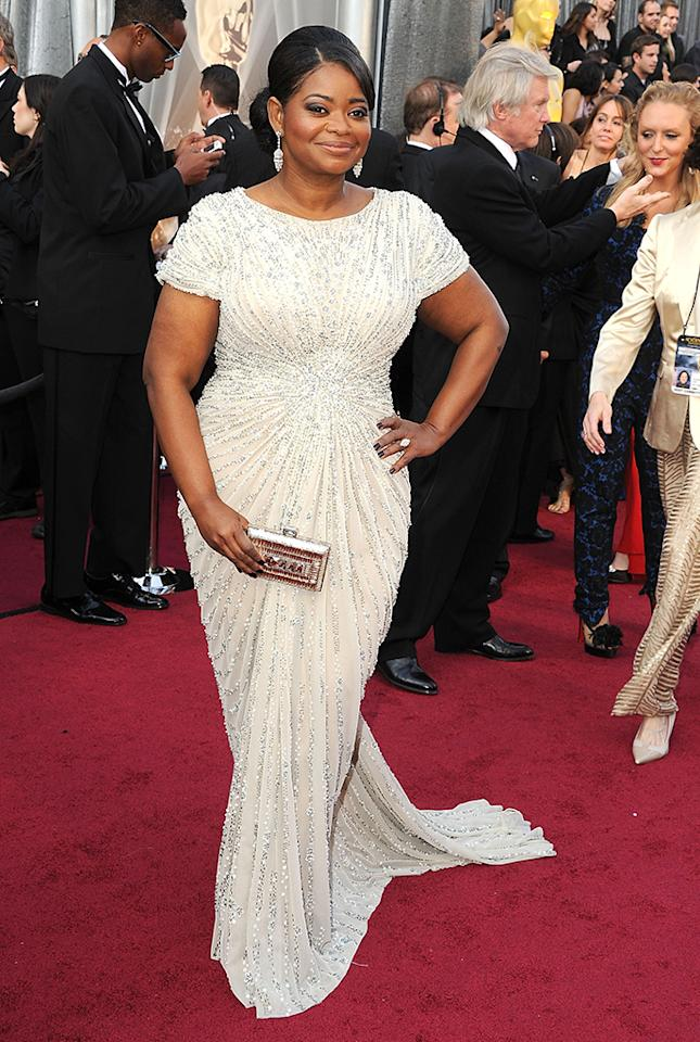 Octavia Spencer arrives at the 84th Annual Academy Awards at Grauman's Chinese Theatre on February 26, 2012 in Hollywood, California.  (Photo by Steve Granitz/WireImage)