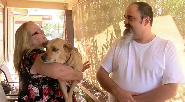 Michelle and John Buckham live near the alleyway with their dog. Source: YourCentralValley.com