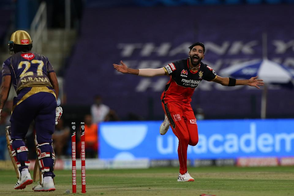 Mohammed Siraj (3/8) became the first to bowl two IPL maidens in one game.