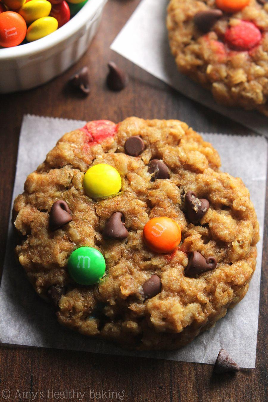 """<p>You mean M&M's are diet approved? 🙌</p><p>Get the recipe from <a href=""""http://amyshealthybaking.com/blog/2015/05/10/healthy-classic-monster-cookies/"""" rel=""""nofollow noopener"""" target=""""_blank"""" data-ylk=""""slk:Amy's Healthy Baking"""" class=""""link rapid-noclick-resp"""">Amy's Healthy Baking</a>.</p>"""