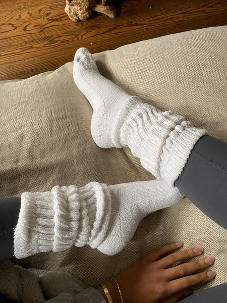 """Like all of us, your dad's spending a lot of time at home right now. Make sure his quarantine sock collection is as fashionable (and comfortable) as possible with these Brother Vellies cloud socks. <br> <br> <strong>Brother Vellies</strong> Cloud Sock, $, available at <a href=""""https://go.skimresources.com/?id=30283X879131&url=https%3A%2F%2Fbrothervellies.com%2Fproducts%2Fcloud-sock%3Fvariant%3D33488313548933"""" rel=""""nofollow noopener"""" target=""""_blank"""" data-ylk=""""slk:Brother Vellies"""" class=""""link rapid-noclick-resp"""">Brother Vellies</a>"""
