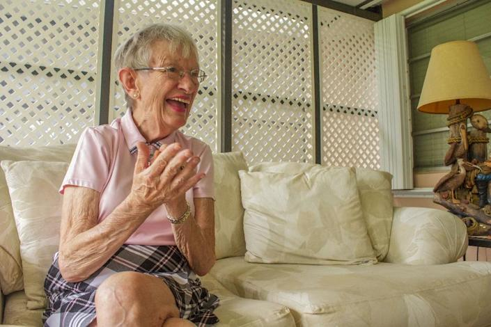 """Mary Helen Abbott, 77, is what scientists refer to as a """"super-ager,"""" and she is taking part in a $3.2 million study that aims to uncover the secrets to staying sharp and healthy into old age (AFP Photo/Federica Narancio)"""