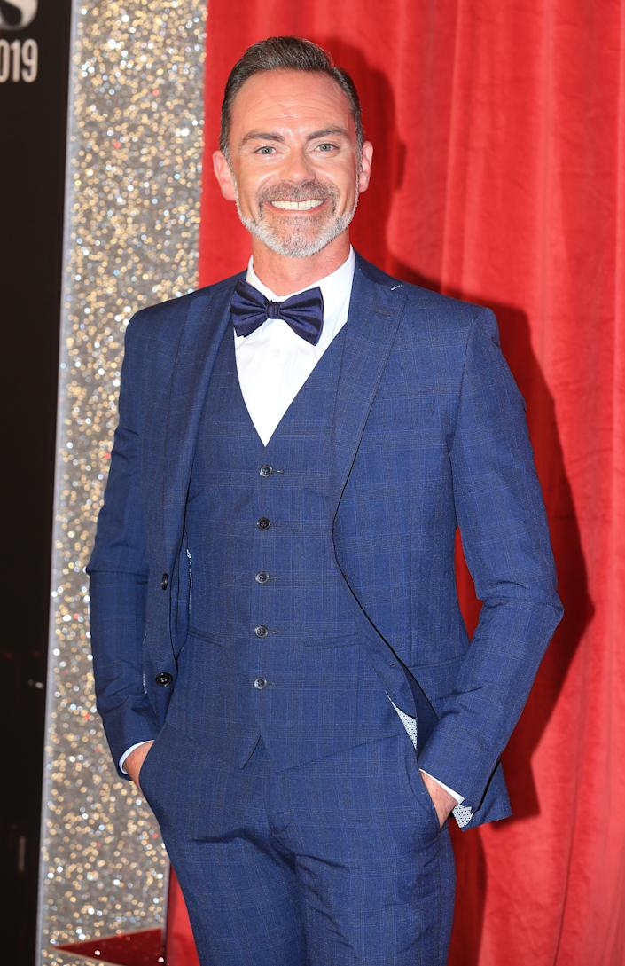 Daniel Brocklebank who plays Billy Mayhew in Coronation Street attending the British Soap Awards 2019 held at the Lyric Theatre at The Lowry in Manchester.