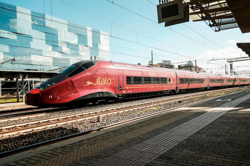 "An "" Italo - NTV (New Transportation Travelers)"" train crosses the Tiburtina station in central Rome, on February 8, 2018. The shareholders of Italian railways group ITALO have accepted on Fabruary 8, 2018 a 1.8 billion euro takeover offer by the U.S based fund GIP (Global Infrastructure Partners). / AFP PHOTO / Andreas SOLARO (Photo credit should read ANDREAS SOLARO/AFP via Getty Images) (Photo: ANDREAS SOLARO via Getty Images)"