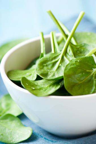 Spinach:  Landon says spinach, which ranks at #5 on the Dirty Dozen list, is exposed to nearly 50 different pesticides. Frozen spinach doesn't fare much better though. (Thinkstock)