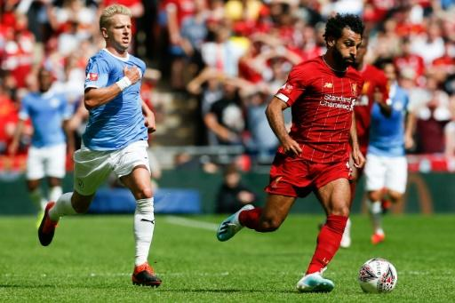 Liverpool's Mohamed Salah led the attack at Wembley