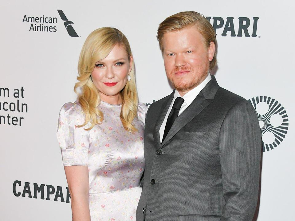 """Actors Kirsten Dunst (L) and Jesse Plemons attend """"The Irishman"""" premiere during the 57th New York Film Festival at Alice Tully Hall, Lincoln Center on September 27, 2019 in New York City."""