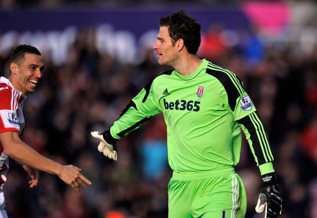 Begovic struck for Stoke 13 seconds into their game against Southampton