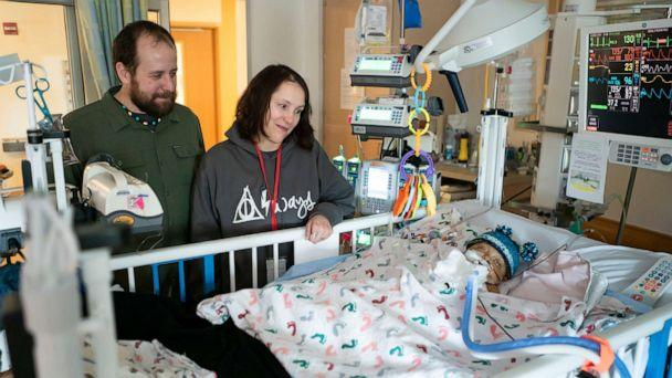 PHOTO: Sean and Josie Kelley's son Sawyer, 1, is diagnosed with a genetic condition called Alagille syndrome which affects many systems of the body. (Courtesy UPMC)