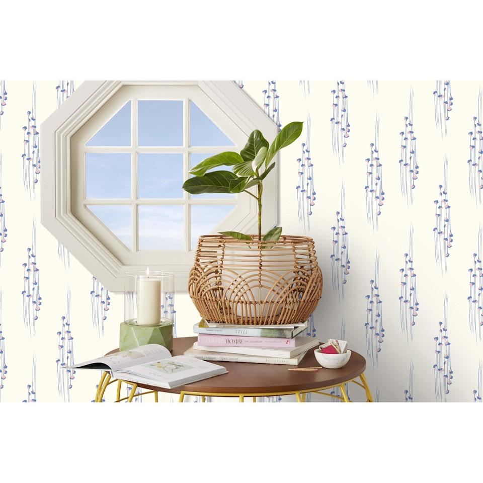 <p>How pretty is this <span>Drew Barrymore Flower Home Gingko Blue Peel & Stick Wallpaper</span> ($35)? Plus, it's easy to apply.</p>