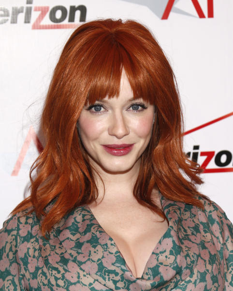 Christina Hendricks attends the 13th Annual AFI Awards Luncheon at the Four Seasons Hotel Los Angeles at Beverly Hills on Friday, January 11, 2013 in Los Angeles. (Photo by Todd Williamson/Invision/AP)