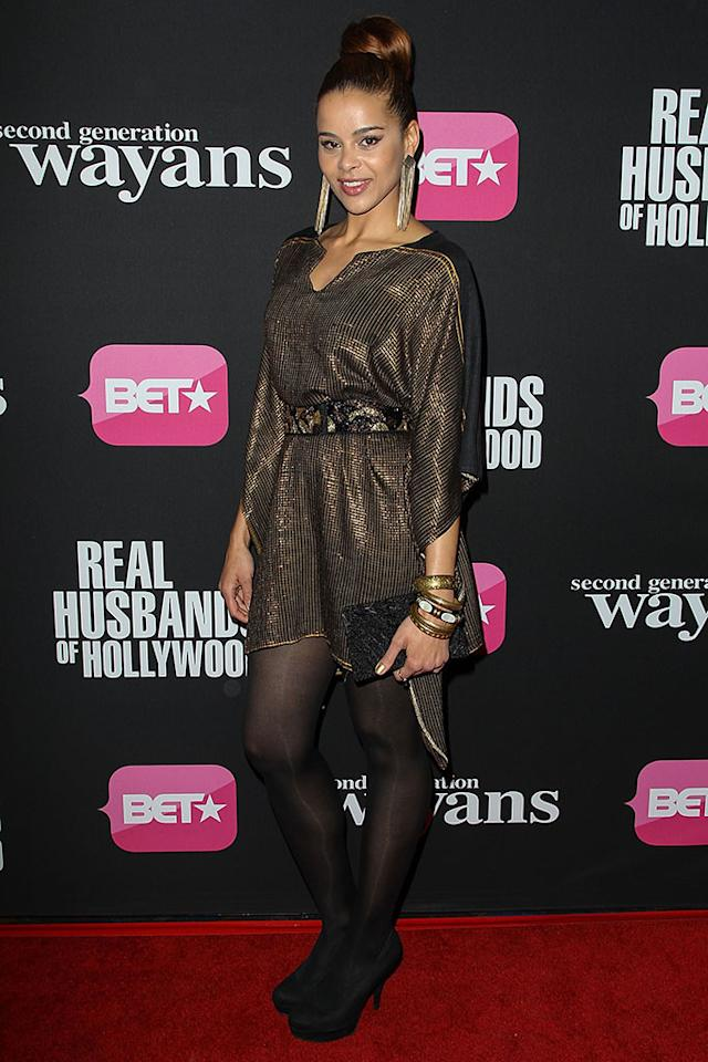 "Celeste Sullivan arrives at the screenings of BET Networks' ""Real Husbands of Hollywood"" and ""Second Generation Wayans"" held at the Regal Cinemas L.A. Live on January 8, 2013 in Los Angeles, California."