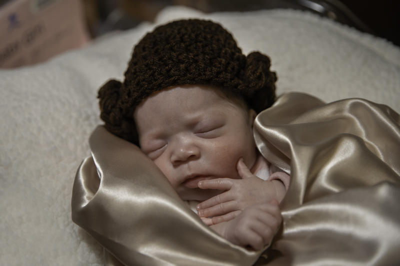 Baby Marley, who lives at Baylor Scott & White McLane Children's Medical Center in Temple, Texas, participated in a Star Wars themed photo shoot. (Photo: Baylor Scott & White McLane Children's Medical Center – Temple)