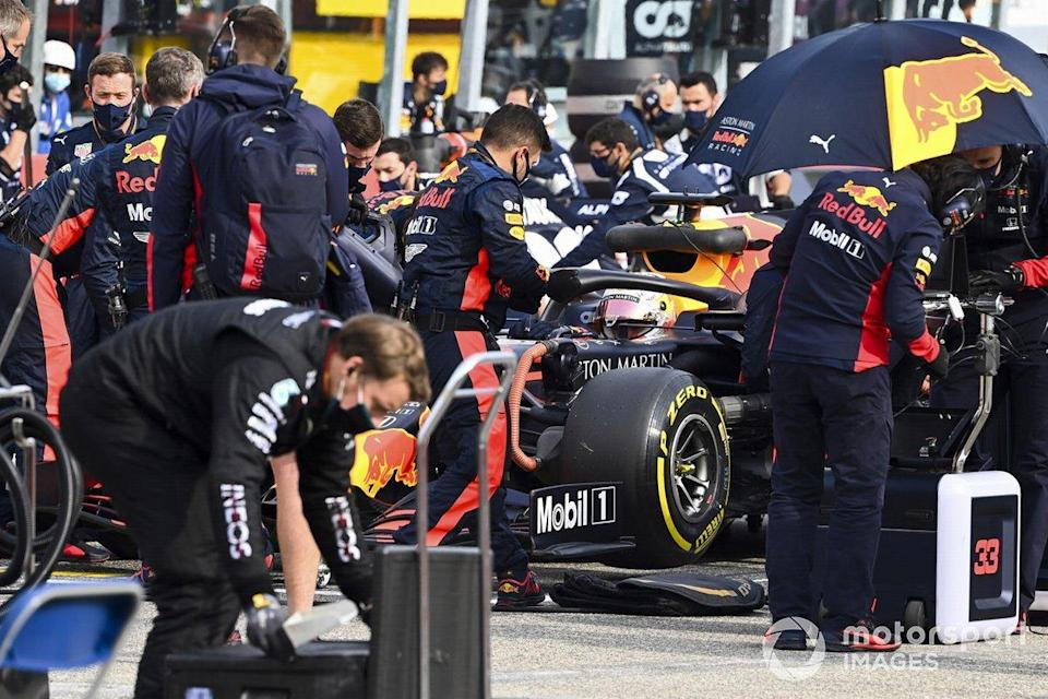 """Max Verstappen, Red Bull Racing RB16, on the grid<span class=""""copyright"""">Mark Sutton / Motorsport Images</span>"""