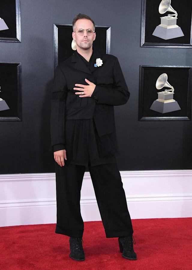 <p>Justin Tranter attends the 60th Annual Grammy Awards at Madison Square Garden in New York on Jan. 28, 2018. (Photo: John Shearer/Getty Images) </p>