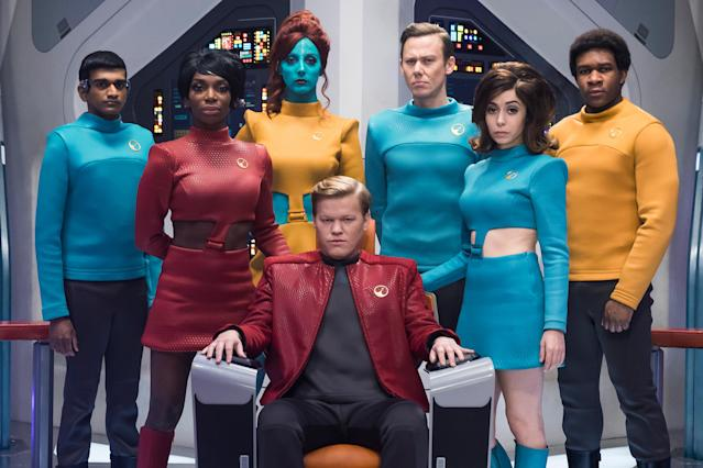 "The cast of the ""USS Callister"" episode of ""Black Mirror."" (Photo: Jonathan Prime/Netflix)"