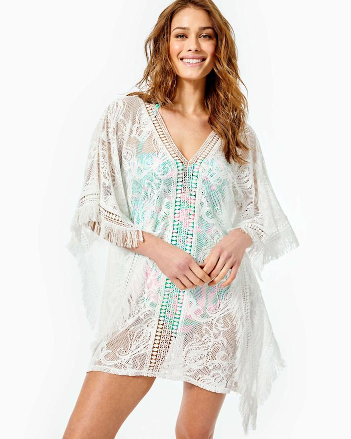 """<p><strong>Lilly Pulitzer</strong></p><p>lillypulitzer.com</p><p><strong>$128.00</strong></p><p><a href=""""https://go.redirectingat.com?id=74968X1596630&url=https%3A%2F%2Fwww.lillypulitzer.com%2Fskyla-caftan-cover-up%2F006357.html&sref=https%3A%2F%2Fwww.townandcountrymag.com%2Fstyle%2Fg2095%2Fmothers-day-gift-ideas%2F"""" rel=""""nofollow noopener"""" target=""""_blank"""" data-ylk=""""slk:Shop Now"""" class=""""link rapid-noclick-resp"""">Shop Now</a></p><p>A perfectly prim Lilly Pulitzer cover-up for all of her poolside needs? What more could one ask for. </p>"""