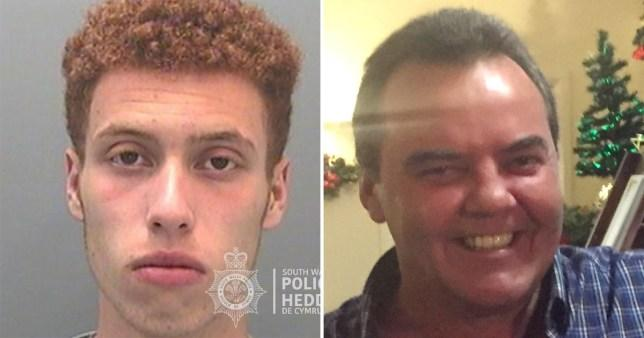 Drew Jones (L), 16, killed 58-year-old Mark Winchcombe with one punch (Picture: South Wales Police)