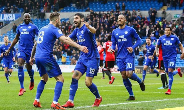 Cardiff run riot as they return to winning ways against 10-man Sunderland
