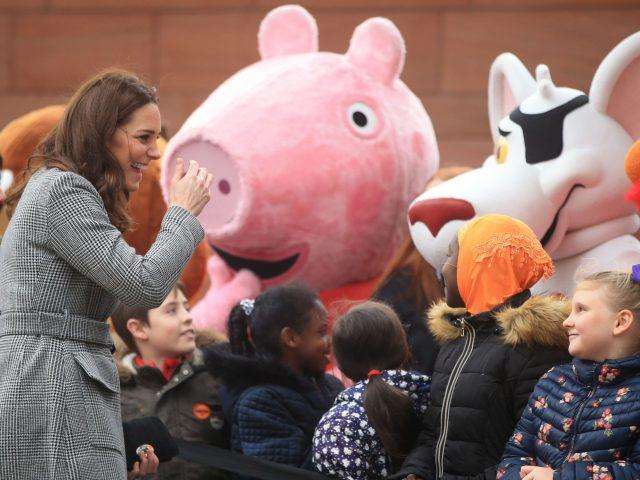 The Duchess of Cambridge meets well-wishers in Manchester