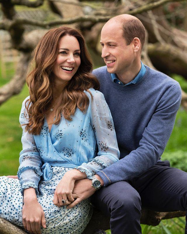 """<p>The Duke and Duchess of Cambridge released two new portraits ahead of their 10th wedding anniversary on April 29. The photographs, taken at Kensington Palace the same week by Chris Floyd, see the couple sitting on a bench together in the grounds of their home smiling, holding hands and wearing coordinated blue ensembles. </p><p><a href=""""https://www.instagram.com/p/COOYsKrlE54/?utm_source=ig_web_copy_link"""" rel=""""nofollow noopener"""" target=""""_blank"""" data-ylk=""""slk:See the original post on Instagram"""" class=""""link rapid-noclick-resp"""">See the original post on Instagram</a></p>"""