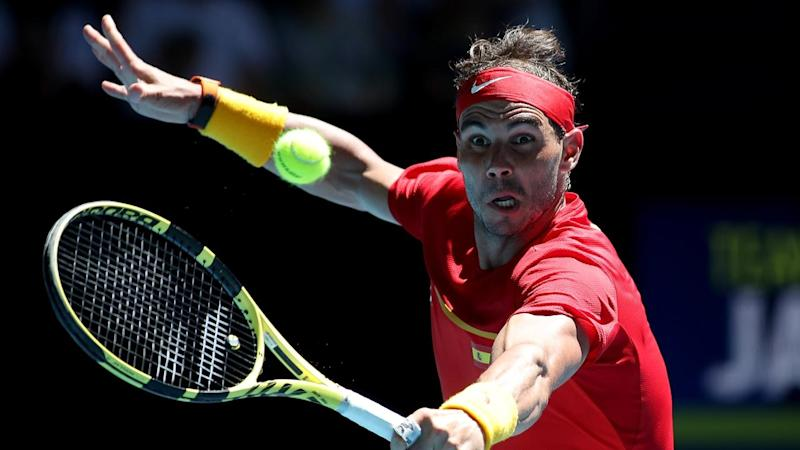 Rafael Nadal has led Spain into the ATP Cup quarters with a tough win over Yoshihito Nishioka