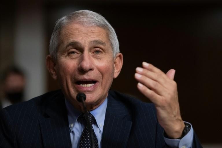 Anthony Fauci, pictured in September 2020, became a national hero for his no-nonsense talk about the pandemic