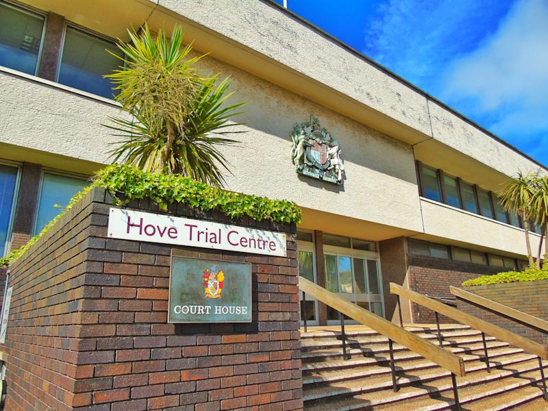 Hove , United Kingdom - July 3 , 2016 The Hove Trial Centre's Entrance