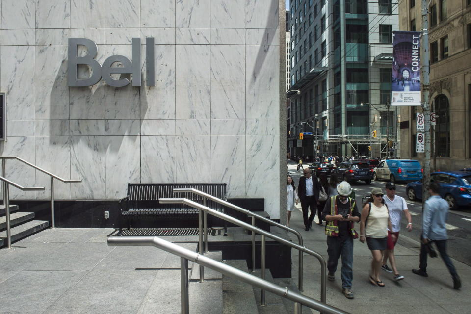 Bell building on Adelaide St, in Toronto/The Canadian Press