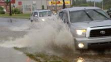Nova Scotia was pummelled with rain Monday, with upwards of 75 millimetres falling in the central part of the province