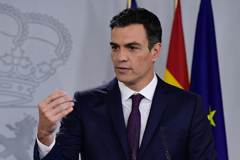 Prime Minister Pedro Sanchez heads up a government that holds the smallest minority in the history of Spanish politics