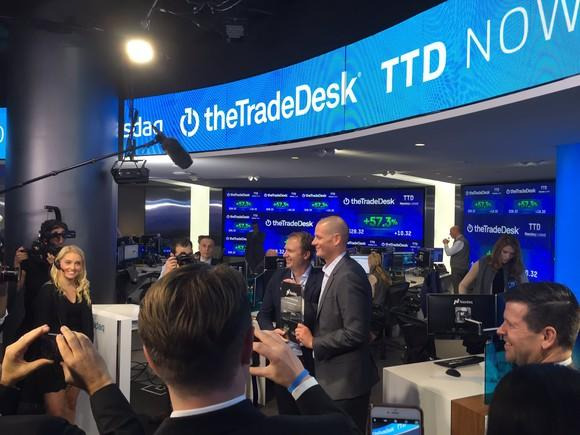The Trade Desk at its trading debut.
