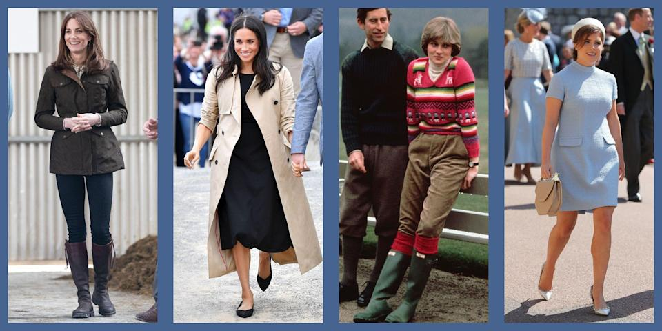 """<p>When it comes to their sartorial choices, the British royal family are a pretty loyal group, often returning to <a href=""""https://www.townandcountrymag.com/style/fashion-trends/g28831376/royal-family-favorite-brands/"""" rel=""""nofollow noopener"""" target=""""_blank"""" data-ylk=""""slk:their favorite brands"""" class=""""link rapid-noclick-resp"""">their favorite brands</a> over and over again for everything from <a href=""""https://www.townandcountrymag.com/society/tradition/g32616301/meghan-markle-kate-middleton-queen-elizabeth-favorite-handbag-brands/"""" rel=""""nofollow noopener"""" target=""""_blank"""" data-ylk=""""slk:outfit-making handbags"""" class=""""link rapid-noclick-resp"""">outfit-making handbags</a> to <a href=""""https://www.townandcountrymag.com/style/fashion-trends/g10344923/kate-middleton-favorite-fashion-brands-designers/"""" rel=""""nofollow noopener"""" target=""""_blank"""" data-ylk=""""slk:sophisticated coats"""" class=""""link rapid-noclick-resp"""">sophisticated coats</a> and <a href=""""https://www.townandcountrymag.com/style/jewelry-and-watches/a34727646/monica-vinader-black-friday-cyber-monday-sale-2020/"""" rel=""""nofollow noopener"""" target=""""_blank"""" data-ylk=""""slk:classic jewelry"""" class=""""link rapid-noclick-resp"""">classic jewelry</a>. Naturally, they're just as discerning when it comes to their elegant heels, hard-working boots, and gentlemanly slippers. And considering they have no shortage of options, you know that the looks that inspire their devotion are not only stylish, but also top-quality. </p><p>Looking to take a walk on the regal side? These are the shoe brands that keep the royal family coming back for more. </p>"""