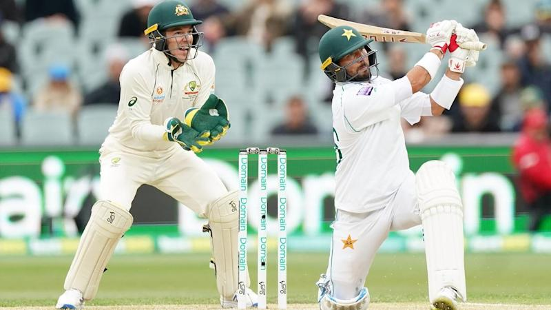 Yasir Shah of Pakistan hit a maiden Test century in the clash with Australia