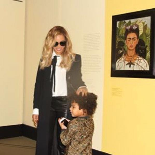 <p>Blue Ivy and her mom sharing a sweet moment and a laugh.</p>
