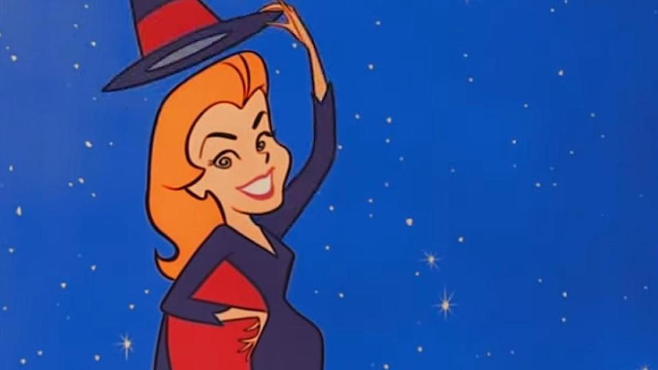 Cartoon Samantha from the Bewitched credits