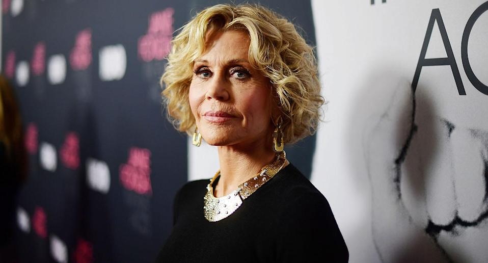 """Jane Fonda at the premiere of """"Jane Fonda In Five Acts"""" <i>(Getty Images)</i>"""
