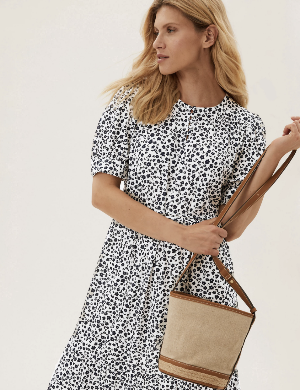 The dress we're adding to our basket ASAP. (Marks & Spencer)