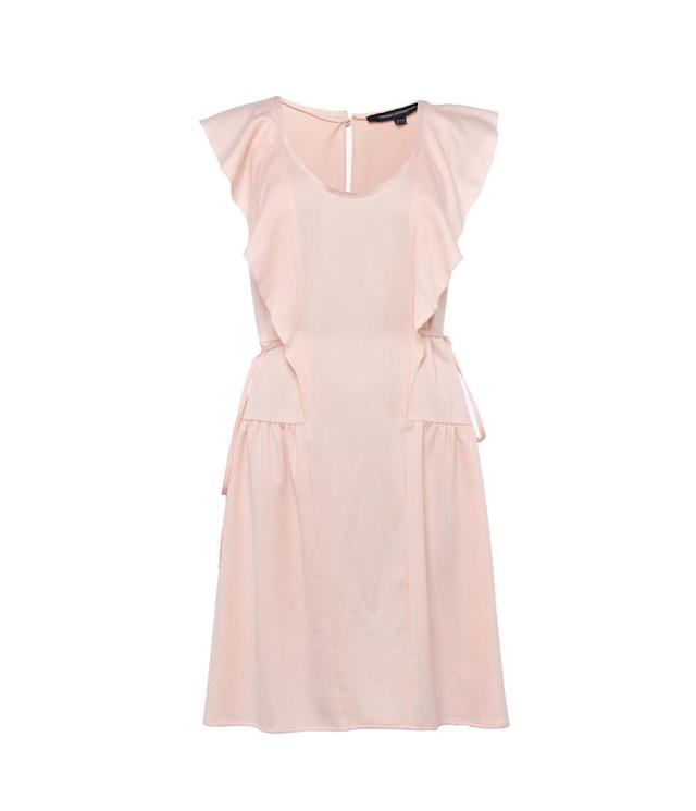 """<p>French Connection via drape capped-sleeve minidress, $85, <a href=""""https://usa.frenchconnection.com/product/woman-collections-dresses/71hpy/nia-drape-capped-sleeve-mini-dress.htm"""" rel=""""nofollow noopener"""" target=""""_blank"""" data-ylk=""""slk:frenchconnection.com"""" class=""""link rapid-noclick-resp"""">frenchconnection.com</a> </p>"""