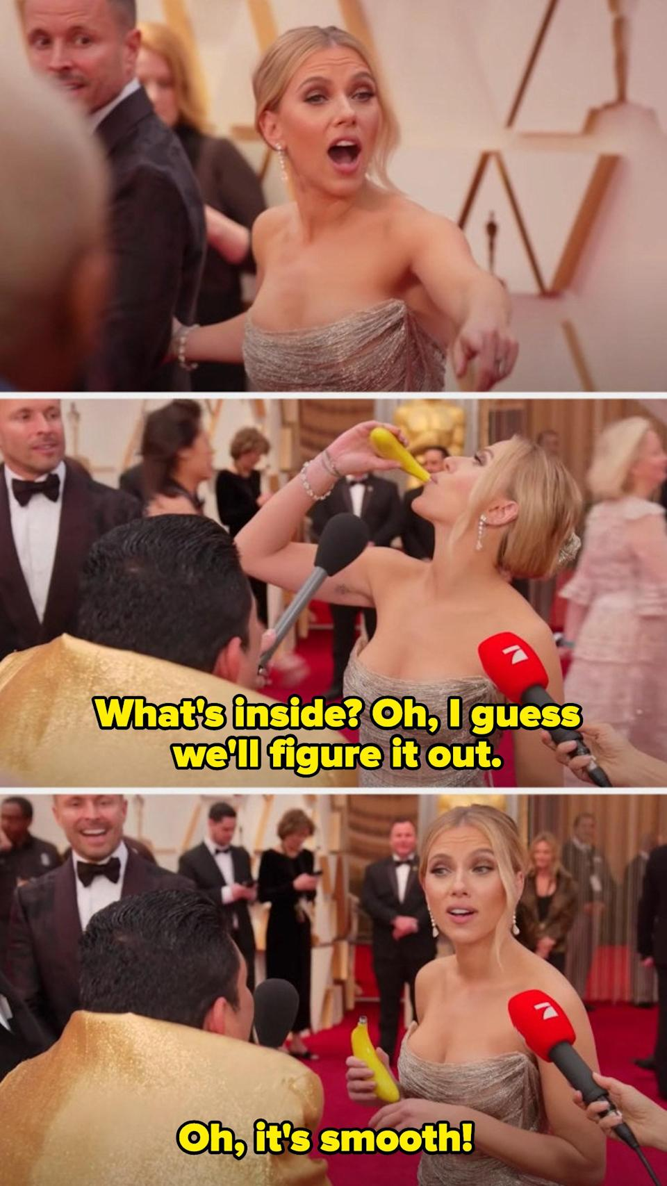 The time where she stopped for a shot of tequila at the Oscars red carpet.