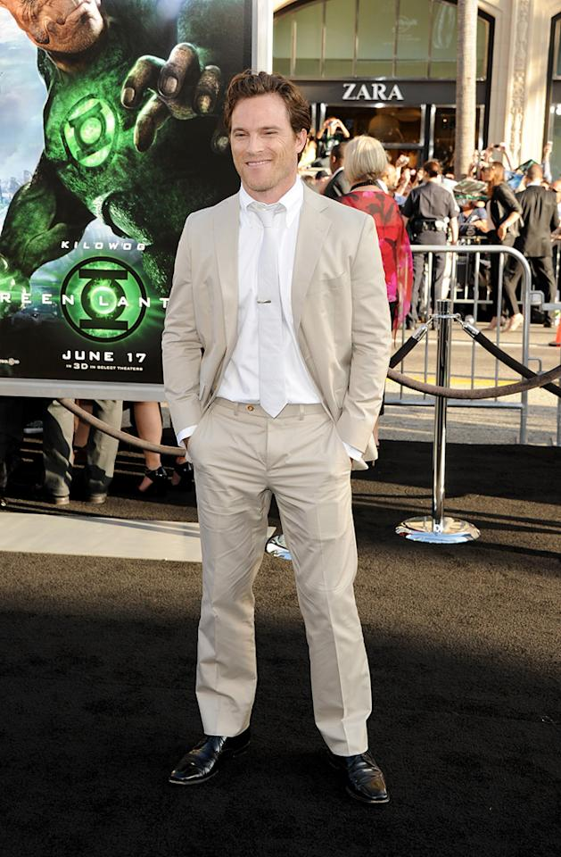 """<a href=""""http://movies.yahoo.com/movie/contributor/1804509131"""">Mike Doyle</a> at the Los Angeles premiere of <a href=""""http://movies.yahoo.com/movie/1810166777/info"""">Green Lantern</a> on June 15, 2011."""