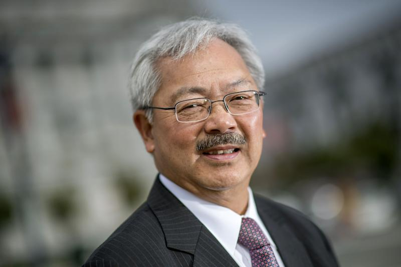 San Francisco Mayor Ed Leestands for a photograph on Aug. 17, 2016. Lee died Tuesday.