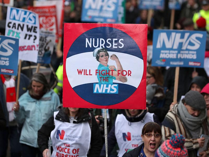 Just 800 EU nurses came to the UK last year, compared to 6,382 in 2016/17 and 9,389 in the year of the referendum: AFP/Getty