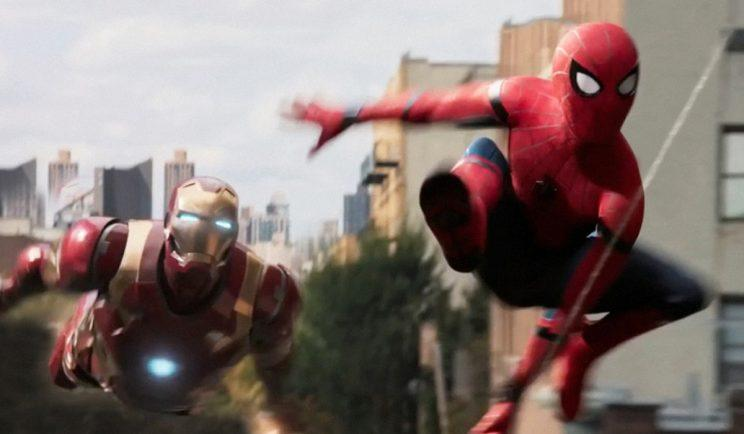Robert Downy Jr appears alongside Spidey in the new solo movie - Credit: Sony