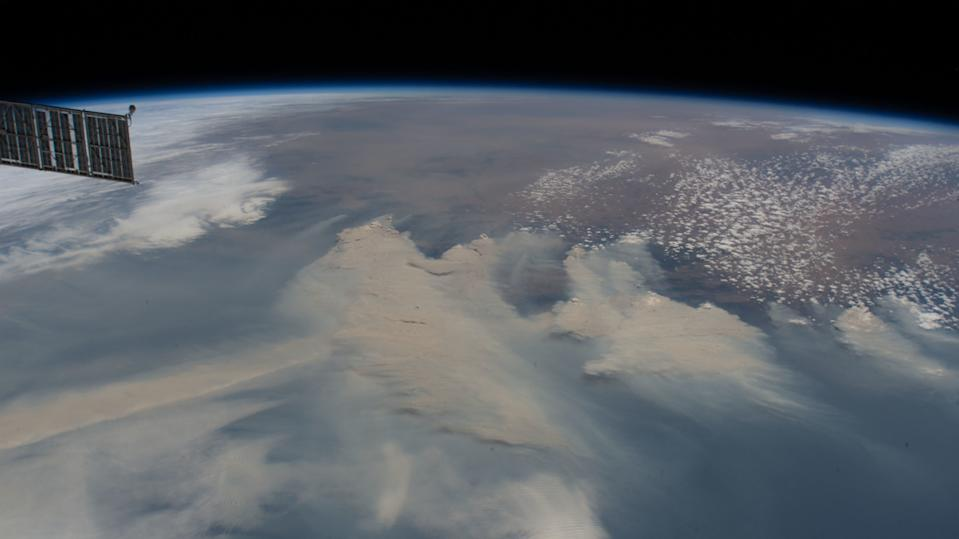 Thick clouds of brown smoke from Australia's bushfires spread across the Tasman Sea in this photo captured by an astronaut at the International Space Station. The photo was taken on Jan. 4, when the station was orbiting 269 miles (433 kilometers) above the Tasman Sea.