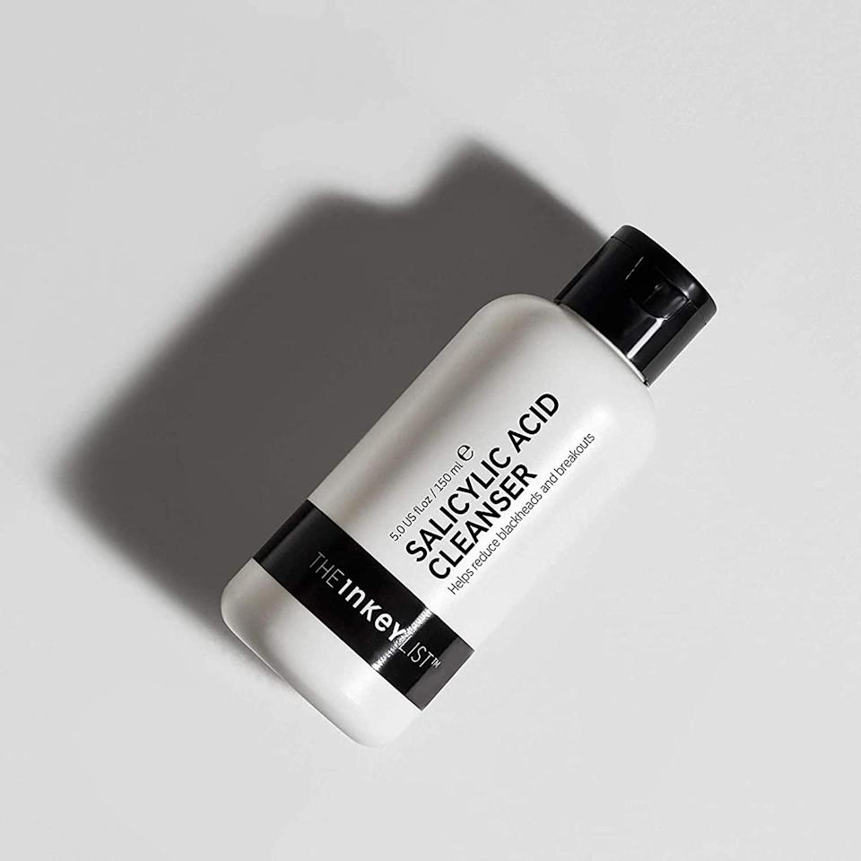 """The Salicylic Acid Cleanser gets a gold star for helping acne-prone skin get — and stay — clearer. This formula features 2 percent <a href=""""https://www.allure.com/story/guide-to-acid-skin-care-ingredients?mbid=synd_yahoo_rss"""" rel=""""nofollow noopener"""" target=""""_blank"""" data-ylk=""""slk:beta hydroxy acid"""" class=""""link rapid-noclick-resp"""">beta hydroxy acid</a> to exfoliate skin and unclog pores, and its zinc compound helps reduce inflammation. $10, Sephora. <a href=""""https://shop-links.co/1736505981678771689"""" rel=""""nofollow noopener"""" target=""""_blank"""" data-ylk=""""slk:Get it now!"""" class=""""link rapid-noclick-resp"""">Get it now!</a>"""