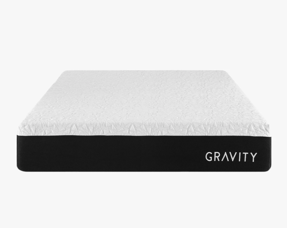 """<p><strong>Gravity Blankets</strong></p><p>Gravity Blankets</p><p><a href=""""https://go.redirectingat.com?id=74968X1596630&url=https%3A%2F%2Fgravityblankets.com%2Fcollections%2Fmattresses%2Fproducts%2Fgravity-ice-hybrid-mattress%3Fvariant%3D32459439734858&sref=https%3A%2F%2Fwww.goodhousekeeping.com%2Fhome-products%2Fg35685540%2Fgravity-blankets-weighted-blanket-sale%2F"""" rel=""""nofollow noopener"""" target=""""_blank"""" data-ylk=""""slk:Shop Now"""" class=""""link rapid-noclick-resp"""">Shop Now</a></p><p><strong><del>$1,250</del> $1,062.50 (15% off)</strong></p><p>Ready to make a big investment? Pick up Gravity Blankets' signature mattress. Supportive and filled with cooling technology, this bed is designed with a good night's sleep in mind.</p>"""