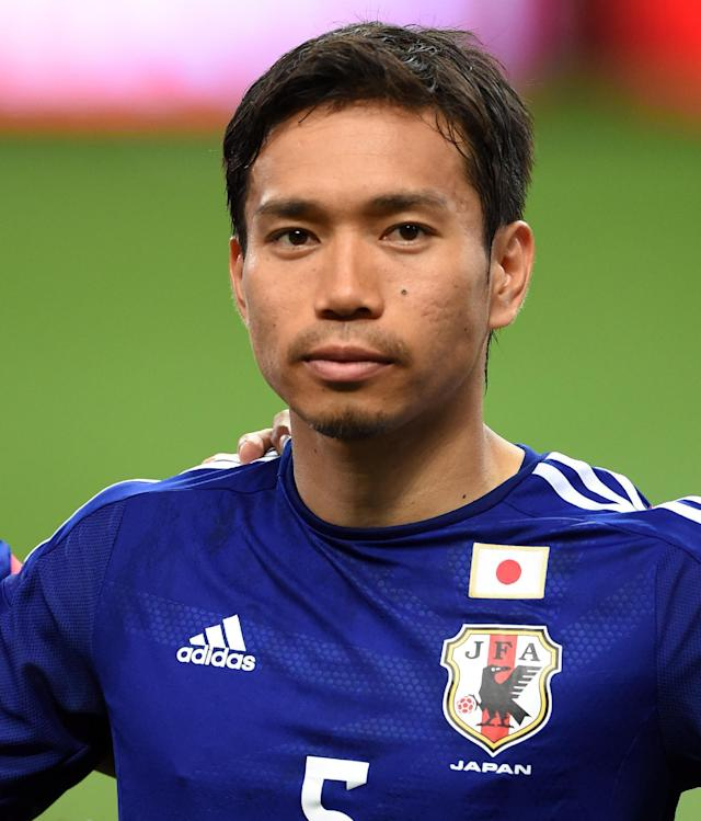 Japan's Yuto Nagatomo before the start of the football friendly against Cyprus in Saitama on May 27, 2014 (AFP Photo/Toshifumi Kitamura)