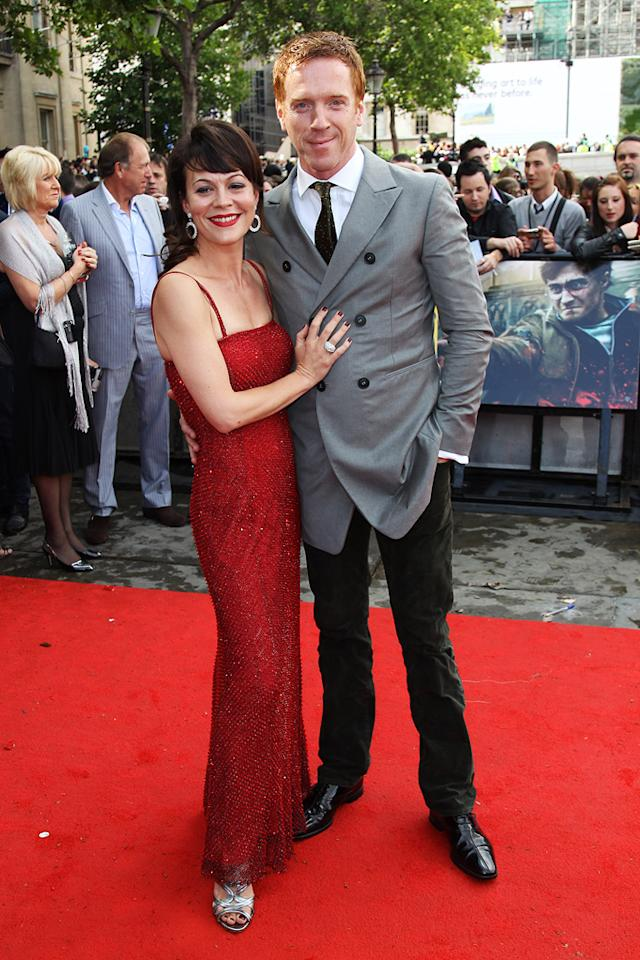 "<a href=""http://movies.yahoo.com/movie/contributor/1804477281"">Helen McCrory</a> and <a href=""http://movies.yahoo.com/movie/contributor/1804538650"">Damian Lewis</a> at the London world premiere of <a href=""http://movies.yahoo.com/movie/1810004624/info"">Harry Potter and the Deathly Hallows - Part 2</a> on July 7, 2011."
