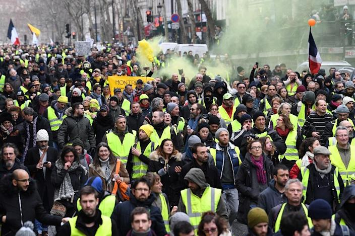The interior ministry estimated numbers for the 11th week of protests were at 69,000 across France, compared to 84,000 last Saturday (AFP Photo/Alain JOCARD)